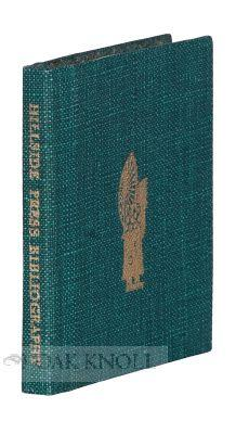 BIBLIOGRAPHY OF THE HILLSIDE PRESS WITH TWENTY-FIVE WOODCUTS AND OTHER ILLUSTRATIONS