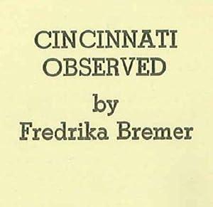 CINCINNATI OBSERVED: Bremer, Fredrika