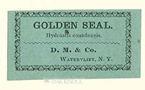 SHAKER HERBS: AN ESSAY BY CYNTHIA ELICE RUBIN WITH 19TH CENTURY SHAKER HERB LABELS