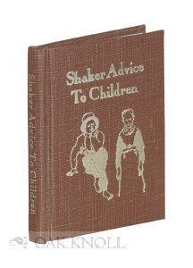 SHAKER ADVICE TO CHILDREN ON BEHAVIOR AT TABLE