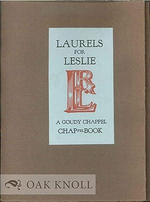 CHAPPELL BOOK FOR DR. ROBERT L. LESLIE