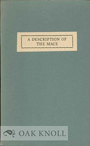 DESCRIPTION OF THE MACE OF THE COLLEGE OF WILLIAM AND MARY IN VIRGINIA.|A