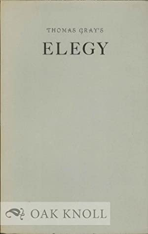 ELEGY WRITTEN IN A COUNTRY CHURCH-YARD & OTHER POEMS.|AN: Gray, Thomas