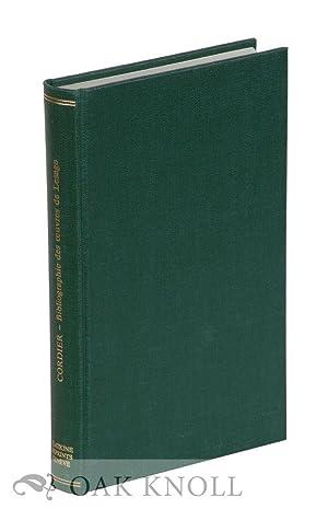 ESSAI BIBLIOGRAPHIQUE SUR LES OEUVRES D'ALAIN-RENÉ LESAGE: Cordier, Henri