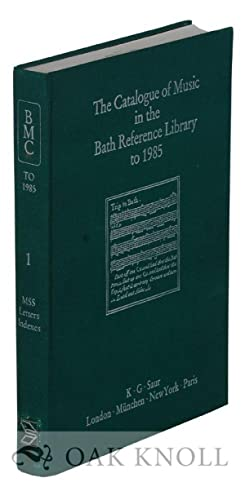 CATALOGUE OF MUSIC IN THE BATH REFERENCE LIBRARY TO 1985.|THE: Gillaspie, Jon A.