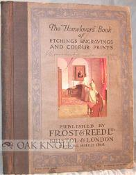 """HOMELOVERS"""" BOOK OF ETCHINGS ENGRAVINGS AND COLOR PRINTS.