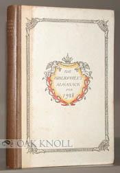 BIBLIOPHILE'S ALMANACK FOR 1928.|THE