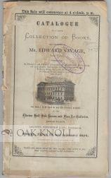 CATALOGUE OF A LARGE COLLECTION OF BOOKS