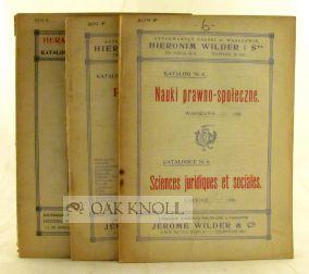 THREE SALES CATALOGUES FROM ANTYKWARYAT POLSKI W WARSZAWIE HIERONIMA WILDERA