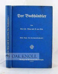 BUCHHANDLER, ERSTER BAND: DER SORTIMENTSBUCHHANDEL.|DER: Pfau, Karl F.
