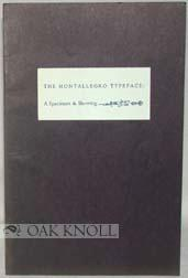 SPECIMEN & SHOWING OF THE MONTALLEGRO TYPEFACE