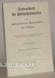 ALTFRANZOSISCHEN HANDSCHRIFTEN DER PALATINA: Christ, Karl