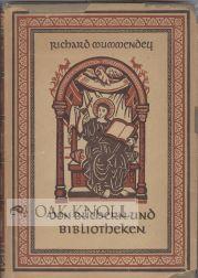 BUCHERN UND BIBLIOTHEKEN: Mummendey, Richard