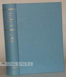 ZENTRALBLATT FUR BIBLIOTHEKSWESEN VOLUME 48-50