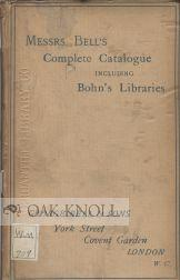 COMPLETE CATALOGUE OF BOOKS.|A