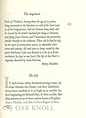 SAINT PAUL, THE FIRST HERMITE: HIS LIFE BY ST. JEROME IN THE TRANSLATION OF 1630: Shewring, Walter