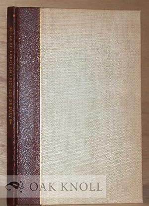 PHILOBIBLON OF RICHARD DE BURY TRANSLATED BY ANDREW FLEMING WEST. THE: Debury, Richard
