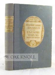HUNDERT JAHRE A. MARCUS UND E. WEBERS VERLAG 1818-1918