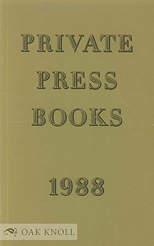 PRIVATE PRESS BOOKS: Cave, Roderick & Thomas Rae