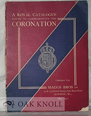 ROYAL CATALOGUE ISSUED TO COMMEMORATE THE CORONATION