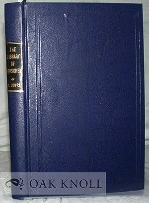 CATALOGUE OF THE LIBRARY OF HERSCHEL V. JONES