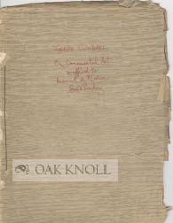 """ON ORNAMENTAL ART AS APPLIED TO ANCIENT AND MODERN BOOKBINDING ."""": Cundall, Joseph"""