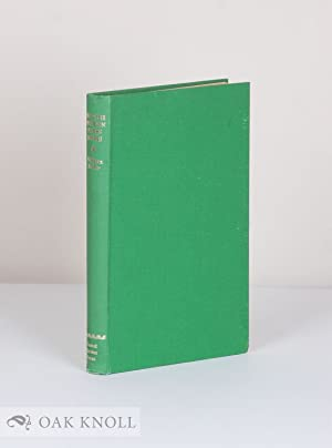 BRITISH MODERN PRESS BOOKS; A DESCRIPTIVE CHECK LIST: Ridler, William