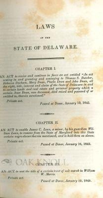 LAWS OF THE STATE OF DELAWARE, PASSED AT AN ADJOURNED SESSION OF THE GENERAL ASSEMBLY, COMMENCED ...