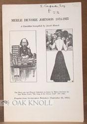 MERLE DEVORE JOHNSON 1874-1935, A CHECKLIST: Blanck, Jacob