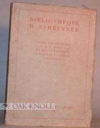 MANUSCRITS ET INCUNABLES, LIVRES A FIGURES RELIURES, BIBLIOTHEQUE ASHBURNER