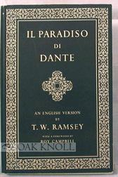 IL PARADISO DI DANTE. AN ENGLISH VERSION: Ramsey, T.W.
