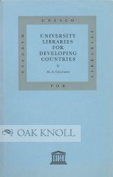 UNIVERSITY LIBRARIES FOR DEVELOPING COUNTRIES: Gelfand, M.A.