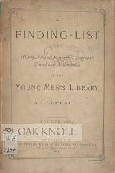 FINDING- LIST IN THE YOUNG MEN'S LIBRARY AT BUFFALO.|A