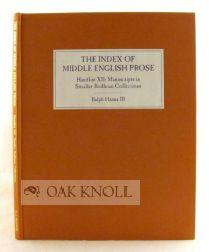 SMALLER BODLEIAN COLLECTIONS: ENGLISH MISCELLANEOUS, ENGLISH POETRY, ENGLISH THEOLOGY, FINCH, LATIN...