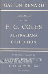 F.G. COLES AUSTRALIANA COLLECTION CATALOGUE: Renard, Gaston