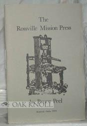 ROSSVILLE MISSION PRESS.|THE: Peel, Bruce