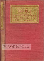 ASSEMBLY OF BOOKS.|THE: Haarhaus, Julius R.