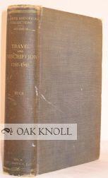 TRAVEL AND DESCRIPTION, 1765-1865: Buck, Solon Justus