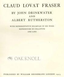 CLAUDE LOVAT FRASER: Drinkwater, John and