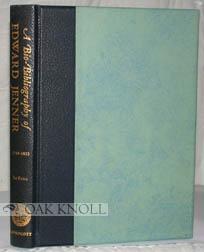 BIO-BIBLIOGRAPHY OF EDWARD JENNER, 1749-1823.|A: Lefanu, William R.