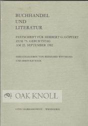 BUCHHANDEL UND LITERATUR: Wittmann, Reinhard