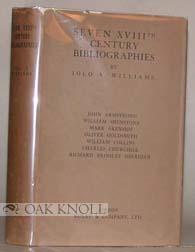 SEVEN XVIIITH CENTURY BIBLIOGRAPHIES: Williams, Iolo A.