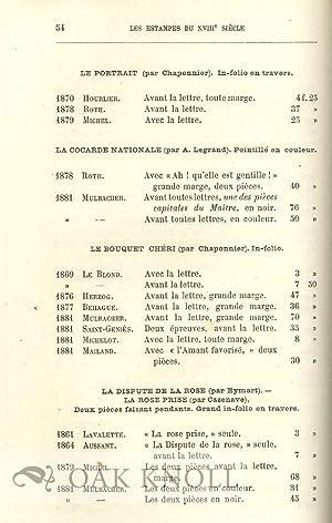 ESTAMPES DU XVIIIe SIÈCLE, ÉCOLE FRANÇAISE; GUIDE-MANUEL DE L'AMATEUR ...