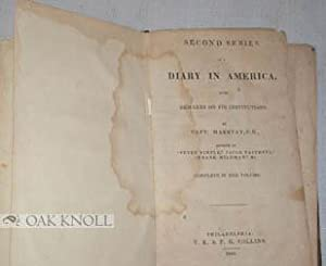 SECOND SERIES OF A DIARY IN AMERICA, WITH REMARKS ON ITS INSTITUTIONS: Marryat, Capt. (Frederick)