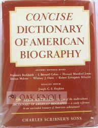 CONCISE DICTIONARY OF AMERICAN BIOGRAPHY: Hopkins, Joseph G.E.