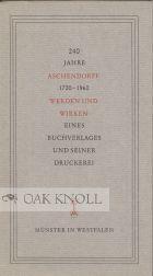 240 JAHRE ASCHENDORFF, 1720-1969, WERDEN UND WIRKEN: Widmann, Simon Peter