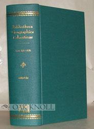 BIBLIOTHECA GEOGRAPHICA PALAESTINAE. CHRONOLOGISCHES VERZEICHNISS DER AUF DIE GEOGRAPHIE DES ...