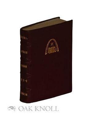 MINIATURE BOOKS: Edison, Julian I.