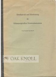 URTEILSSPRUCH UND EIDESLEISTUNG IM HELMASPERGERSCHEN NOTARIATSINSTRUMENT: Juchhoff, Rudolf