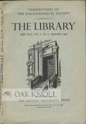 PRINTERS' 'COPY BOOKS' AND THE BLACK MARKET: Johnson, Francis R.